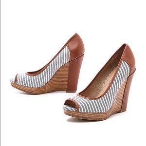 Splendid Beverly Striped Wedges Heels
